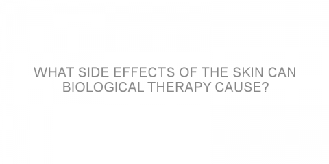 What side effects of the skin can biological therapy cause?