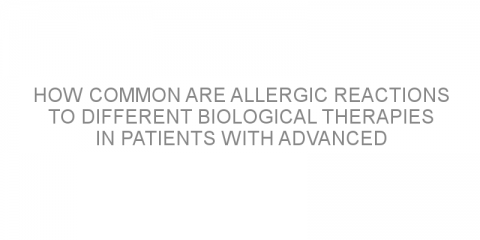 How common are allergic reactions to different biological therapies in patients with advanced melanoma?
