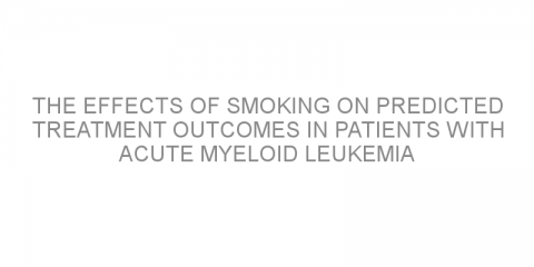 The effects of smoking on predicted treatment outcomes in patients with acute myeloid leukemia