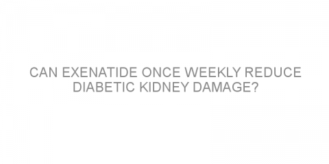 Can exenatide once weekly reduce diabetic kidney damage?