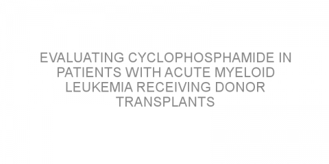 Evaluating cyclophosphamide in patients with acute myeloid leukemia receiving donor transplants