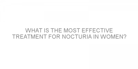 What is the most effective treatment for nocturia in women?