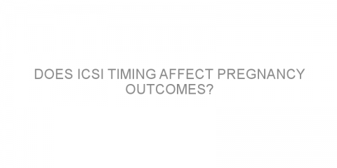 Does ICSI timing affect pregnancy outcomes?