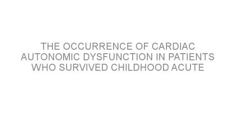 The occurrence of cardiac autonomic dysfunction in patients who survived childhood acute lymphoblastic leukemia