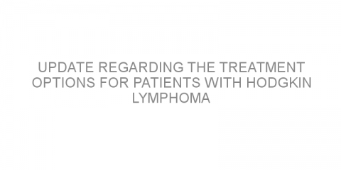 Update regarding the treatment options for patients with Hodgkin lymphoma