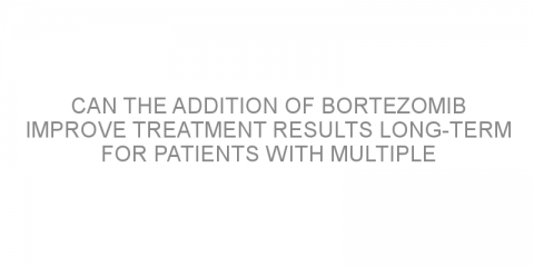 Can the addition of bortezomib improve treatment results long-term for patients with multiple myeloma?