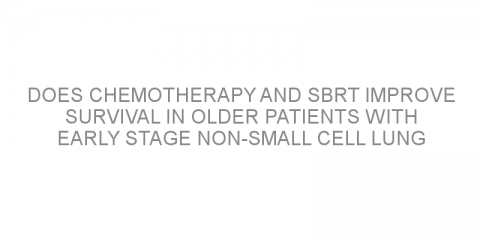 Does chemotherapy and SBRT improve survival in older patients with early stage non-small cell lung cancer (NSCLC)?