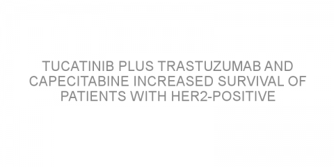 Tucatinib plus trastuzumab and capecitabine increased survival of patients with HER2-positive breast cancer spread to the brain