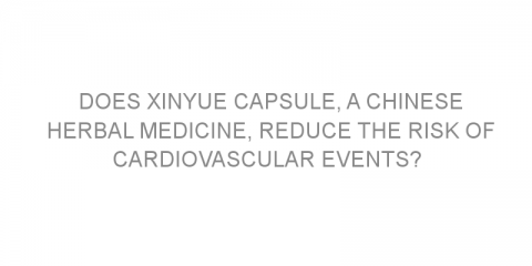 Does Xinyue capsule, a Chinese herbal medicine, reduce the risk of cardiovascular events?