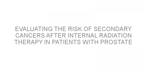 Evaluating the risk of secondary cancers after internal radiation therapy in patients with prostate cancer