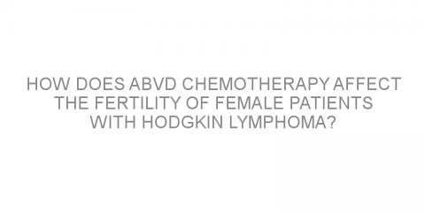 How does ABVD chemotherapy affect the fertility of female patients with Hodgkin lymphoma?