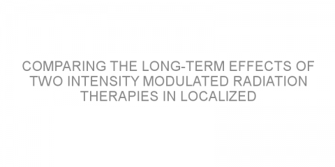 Comparing the long-term effects of two intensity modulated radiation therapies in localized prostate cancer