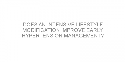 Does an intensive lifestyle modification improve early hypertension management?