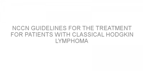 NCCN guidelines for the treatment for patients with classical Hodgkin lymphoma