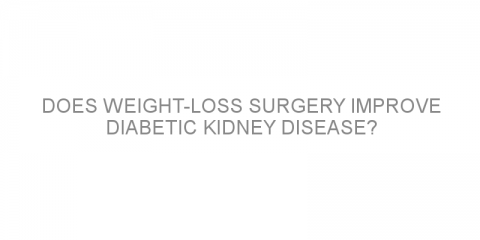 Does weight-loss surgery improve diabetic kidney disease?