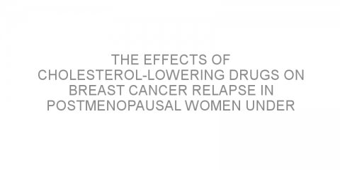 The effects of cholesterol-lowering drugs on breast cancer relapse in postmenopausal women under aromatase inhibitor treatment