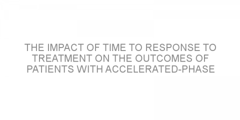 The impact of time to response to treatment on the outcomes of patients with accelerated-phase chronic myeloid leukemia