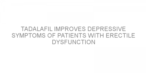 Tadalafil improves depressive symptoms of patients with erectile dysfunction