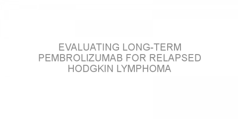Evaluating long-term pembrolizumab for relapsed Hodgkin lymphoma