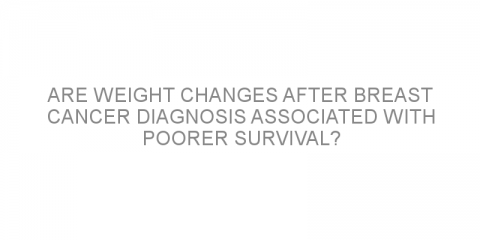 Are weight changes after breast cancer diagnosis associated with poorer survival?