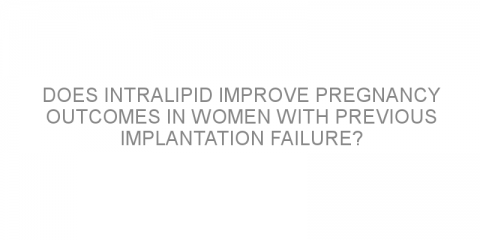 Does intralipid improve pregnancy outcomes in women with previous implantation failure?