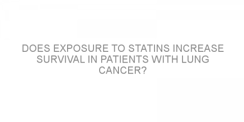 Does exposure to statins increase survival in patients with lung cancer?
