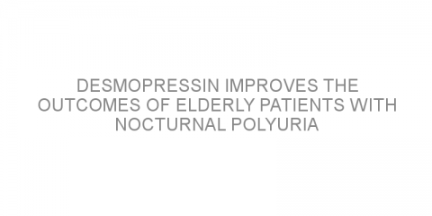 Desmopressin improves the outcomes of elderly patients with nocturnal polyuria