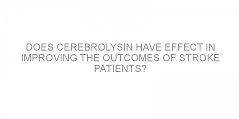 Does Cerebrolysin have effect in improving the outcomes of stroke patients?