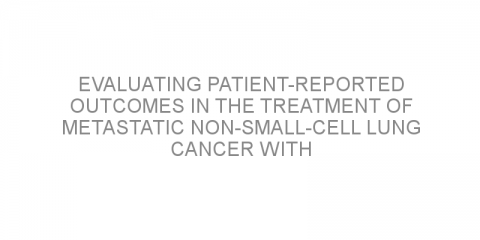 Evaluating patient-reported outcomes in the treatment of metastatic non-small-cell lung cancer with pembrolizumab plus pemetrexed–platinum