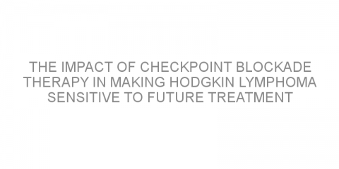 The impact of checkpoint blockade therapy in making Hodgkin lymphoma sensitive to future treatment