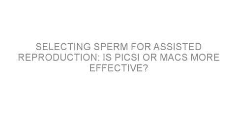 Selecting sperm for assisted reproduction: is PICSI or MACS more effective?