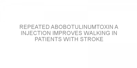 Repeated abobotulinumtoxin A injection improves walking in patients with stroke