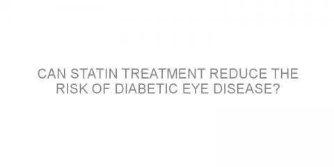 Can statin treatment reduce the risk of diabetic eye disease?