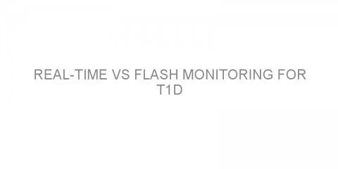 Real-time vs flash monitoring for T1D