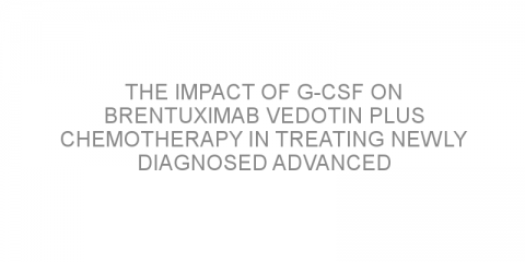 The impact of G-CSF on brentuximab vedotin plus chemotherapy in treating newly diagnosed advanced Hodgkin lymphoma