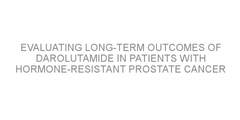 Evaluating long-term outcomes of darolutamide in patients with hormone-resistant prostate cancer