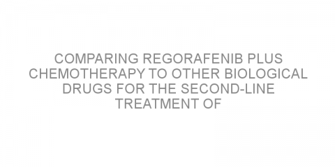 Comparing regorafenib plus chemotherapy to other biological drugs for the second-line treatment of metastatic colorectal cancer