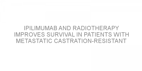 Ipilimumab and radiotherapy improves survival in patients with metastatic castration-resistant prostate cancer