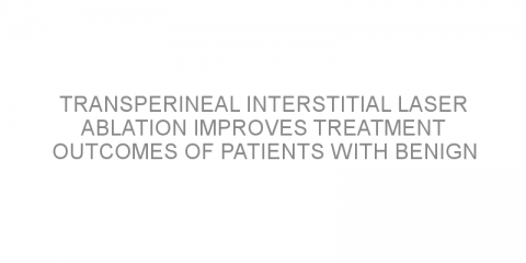 Transperineal interstitial laser ablation improves treatment outcomes of patients with benign prostatic obstruction
