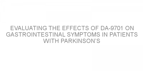 Evaluating the effects of DA-9701 on gastrointestinal symptoms in patients with Parkinson's disease