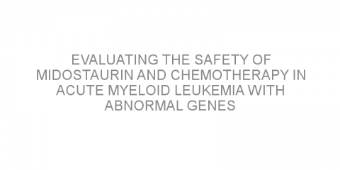 Evaluating the safety of midostaurin and chemotherapy in acute myeloid leukemia with abnormal genes