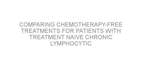 Comparing chemotherapy-free treatments for patients with treatment naïve chronic lymphocytic leukemia