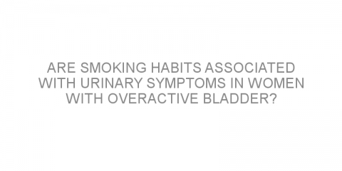 Are smoking habits associated with urinary symptoms in women with overactive bladder?