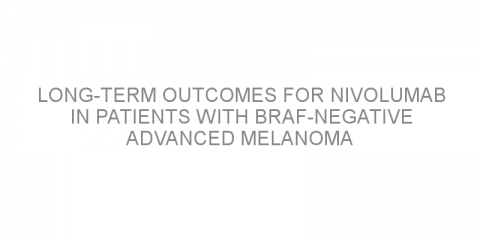 Long-term outcomes for nivolumab in patients with BRAF-negative advanced melanoma