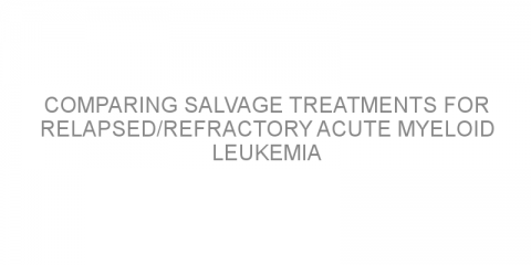 Comparing salvage treatments for relapsed/refractory acute myeloid leukemia