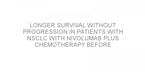 Longer survival without progression in patients with NSCLC with nivolumab plus chemotherapy before surgery
