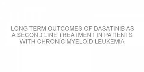 Long term outcomes of dasatinib as a second line treatment in patients with chronic myeloid leukemia