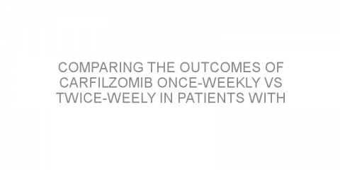 Comparing the outcomes of carfilzomib once-weekly vs twice-weely in patients with relapsed/refractory multiple myeloma