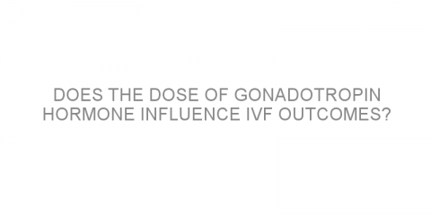 Does the dose of gonadotropin hormone influence IVF outcomes?