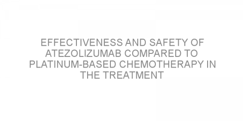 Effectiveness and safety of atezolizumab compared to platinum-based chemotherapy in the treatment of advanced NSCLC